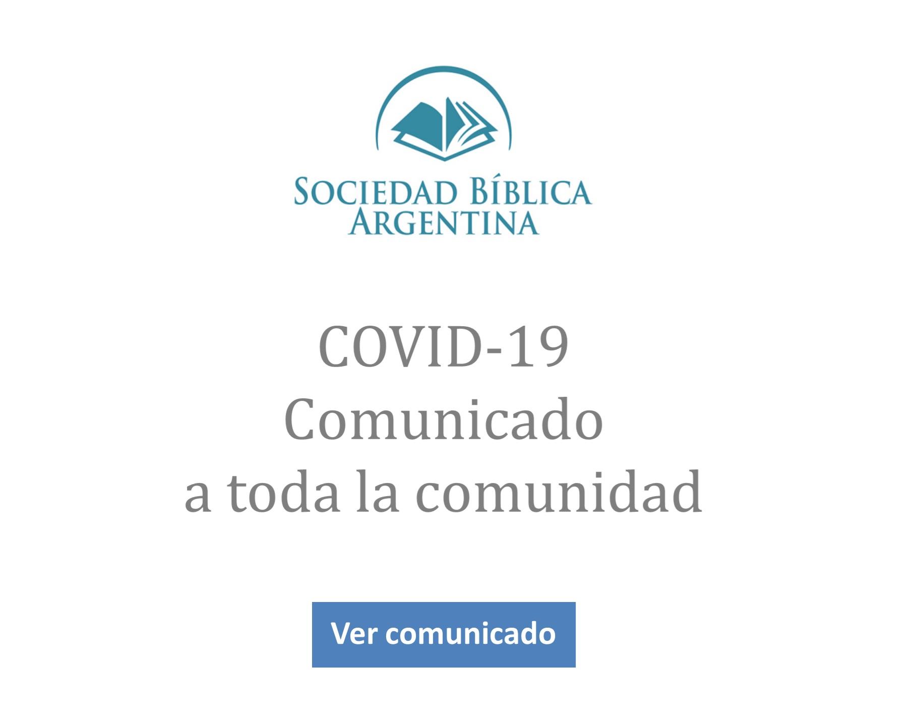 COVID 19- Comunidado SBA